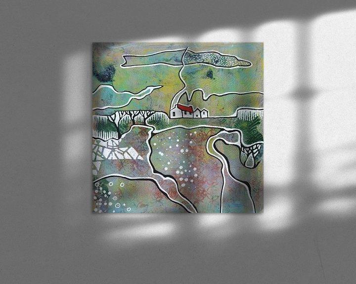 Beispiel: Saisonale Landschaft - Frühling von Ariadna de Raadt-Goldberg