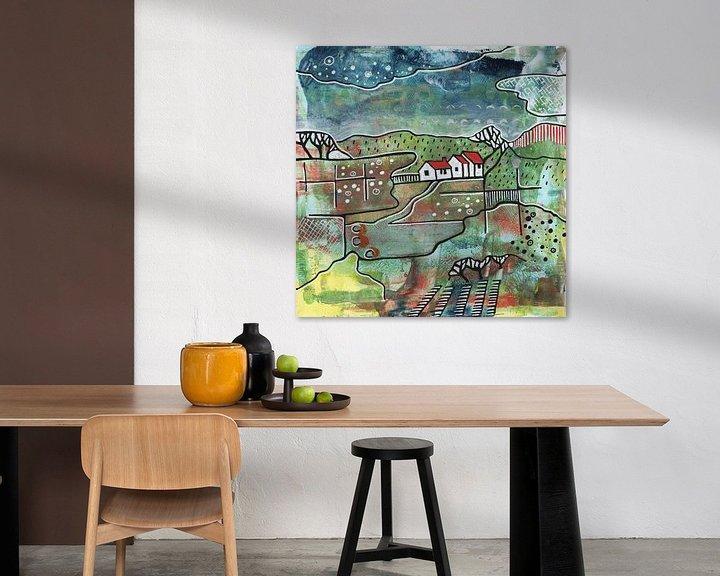 Beispiel: Saisonale Landschaft - Sommer von Ariadna de Raadt-Goldberg