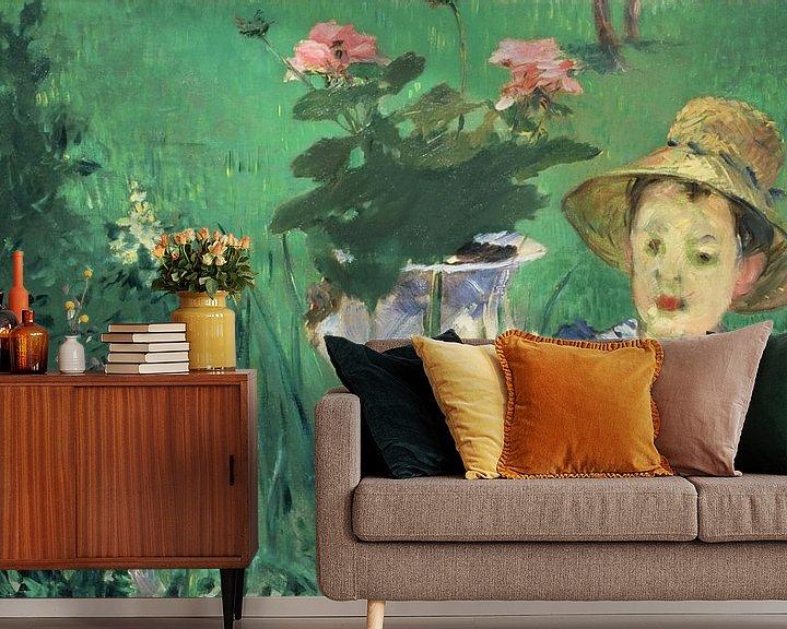 Beispiel fototapete: Junge in Blumen (Jacques Hoschedé), Édouard Manet