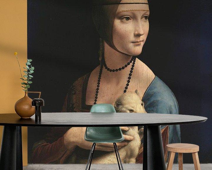 Beispiel fototapete: Dame mit Hermelin, Leonardo da Vinci