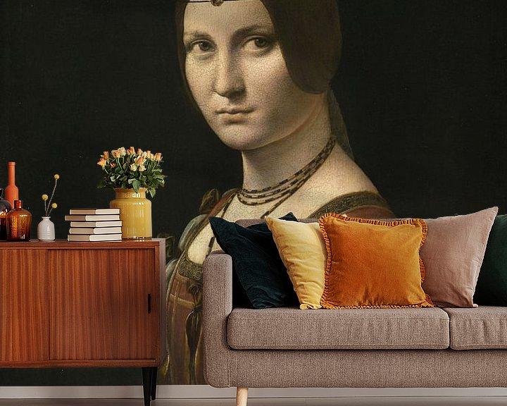 Beispiel fototapete: Porträt einer unbekannten Frau, Leonardo da Vinci
