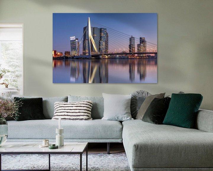 Sfeerimpressie: Rotterdam skyline van Fotografie Ronald