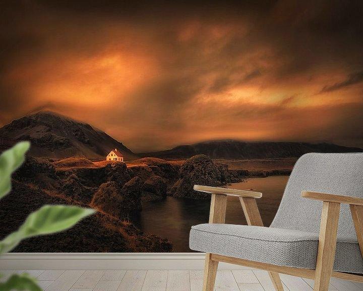 Sfeerimpressie behang: Mystical Iceland . Award winning picture van Saskia Dingemans