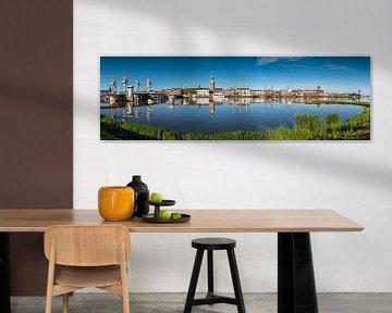 Stadsfront Kampen panorama van Fotografie Ronald