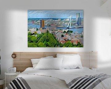Abstract Schilderij Skyline Rotterdam