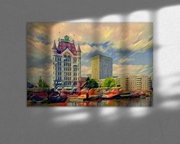 Sfeervol schilderij Rotterdam: Sprookjesachtig Witte Huis Rotterdam