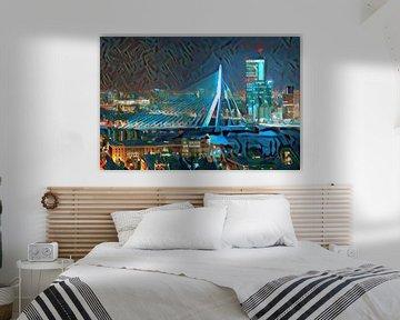 Modern Schilderij Erasmusbrug Rotterdam
