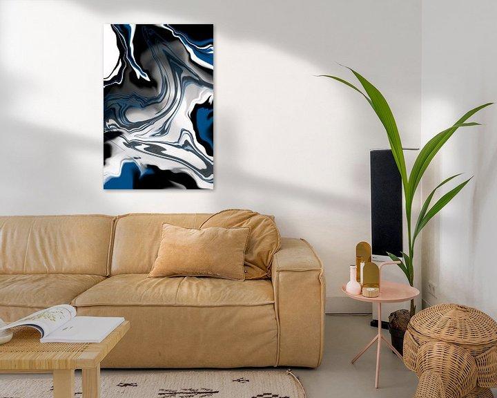 Beispiel: Flüssiger Marmor Nr. 1 | klassisches blau von Melanie Viola
