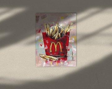McDonald's Pommes frites malerei. von Jos Hoppenbrouwers