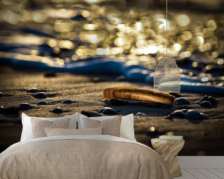 Beispiel fototapete: Muscheln am Strand von Arjan Boer