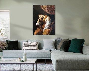Maria Magdalena als Melancholie, Artemisia Gentileschi