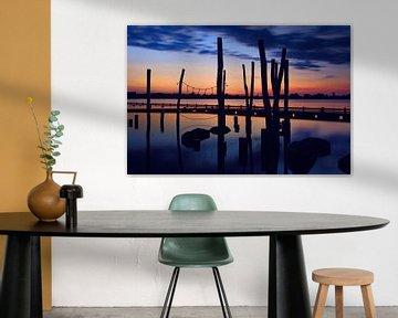 Coucher de soleil sur les lacs de Loosdrecht sur Jennifer Hendriks