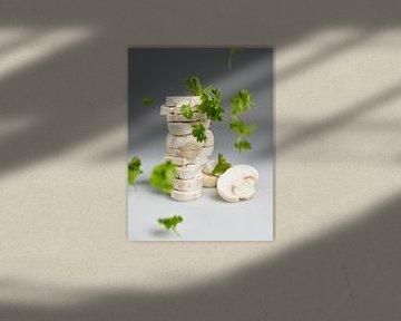Champignon en peterselie van Sjoerd van der Hucht