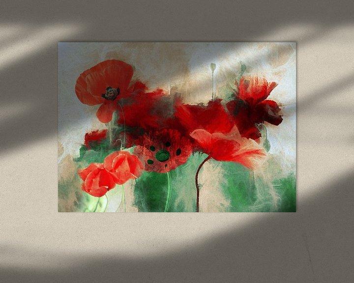 Sfeerimpressie: Poppy Abstract van Jacky Gerritsen