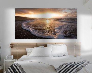 zonsondergang aan de Noordzeekust