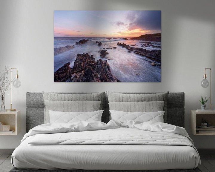 Beispiel: Wilde Küste im Abendlicht von Ralf Lehmann