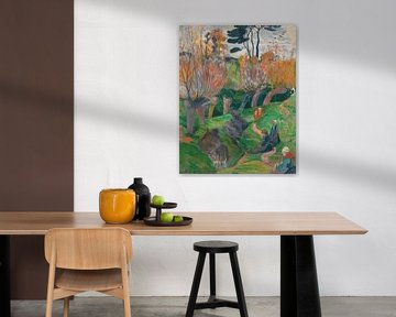 Bretagne-Landschaft mit Kühen, Paul Gauguin