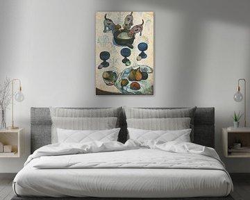 Stilleben mit drei Welpen, Paul Gauguin