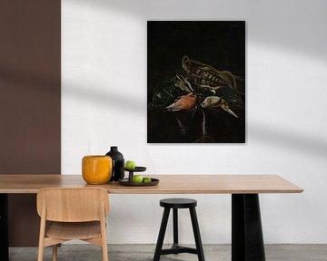 Stilleben mit toten Vögeln und Wildtasche, Willem van Aelst