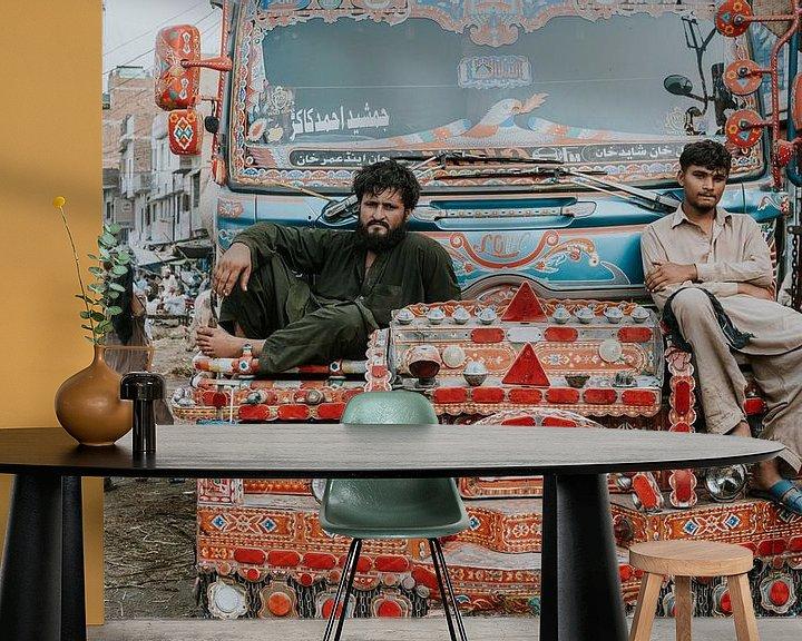 Sfeerimpressie behang: Pakistan | Lahore van Jaap Kroon