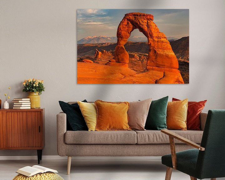 Sfeerimpressie: Delicate Arch in Arches National Park, Utah, USA van Henk Meijer Photography