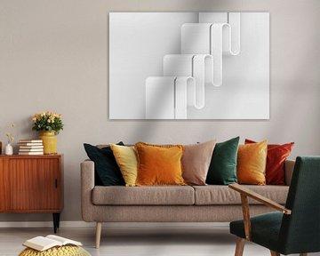Verticale golven landschapsformaat van Jörg Hausmann