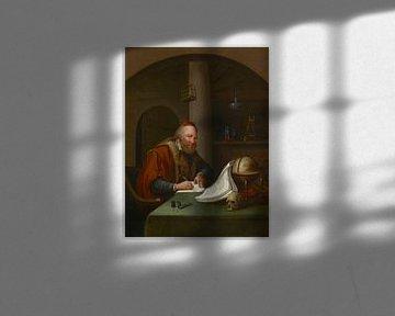 Der Stipendiat unterbrach bei seiner Arbeit, Gerrit Dou