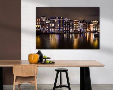 Amsterdamer Innenstadt Abends von Claudia Kool Kool