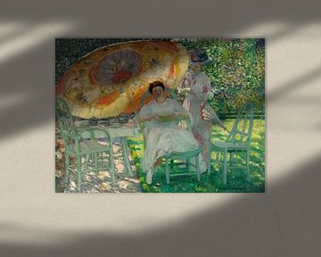Der Gartenschirm, Frederick Carl Frieseke