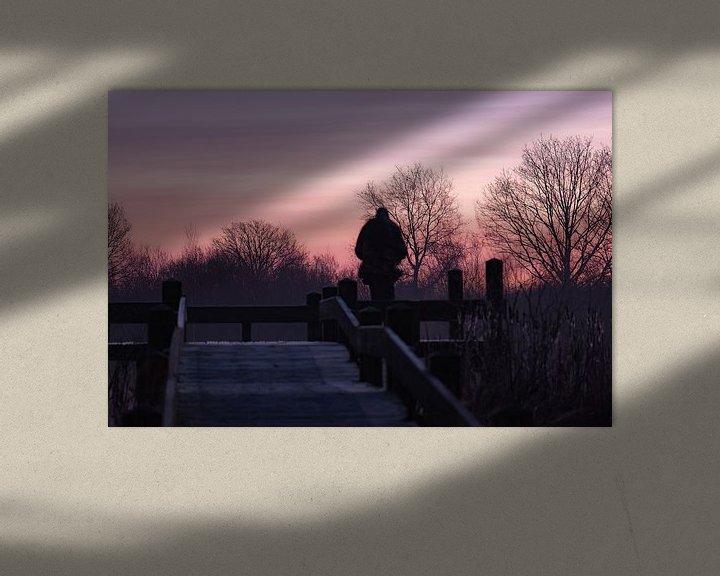 Sfeerimpressie: roze lucht van Tania Perneel