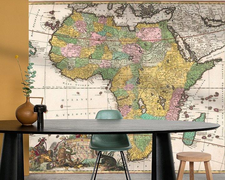 Beispiel fototapete: Karte von Afrika, Carel Allard
