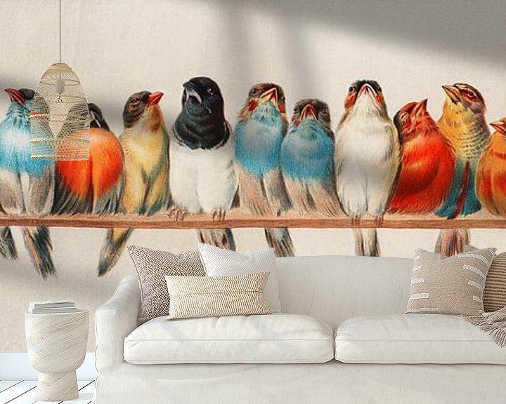 Beispiel fototapete: Ein Barsch von Vögeln, Hector Giacomelli (Digitalisiert)