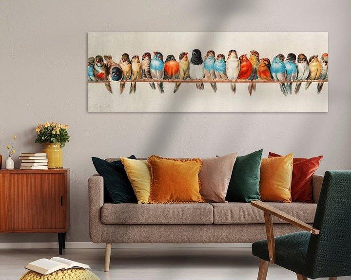 Beispiel: Ein Barsch von Vögeln, Hector Giacomelli (Digitalisiert)