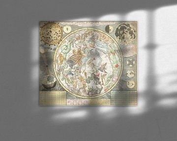 Sternkarte des südlichen Sternenhimmels, Carel Allard