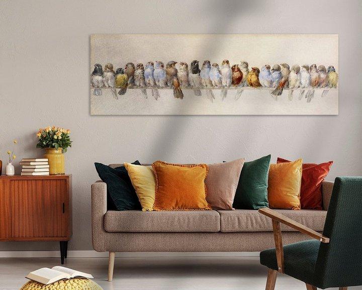 Beispiel: Ein Barsch von Vögeln, Hector Giacomelli
