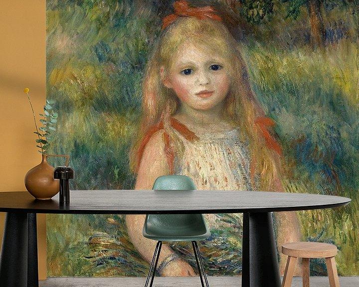 Beispiel fototapete: Mädchen mit Blumen, Pierre-Auguste Renoir