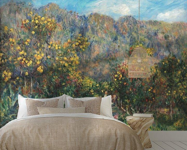 Beispiel fototapete: Landschaft mit Mimosas, Pierre-Auguste Renoir