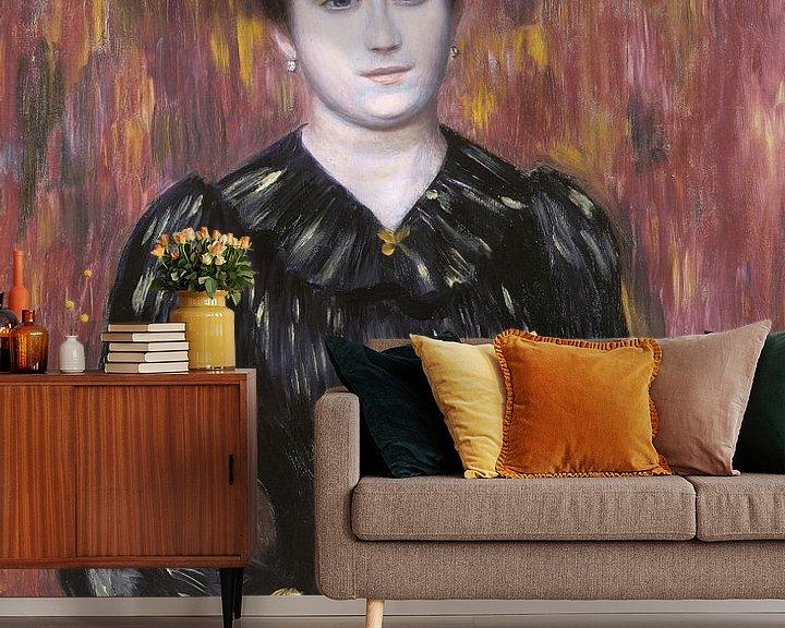 Beispiel fototapete: Porträt von Mme. Paulin, Pierre-Auguste Renoir