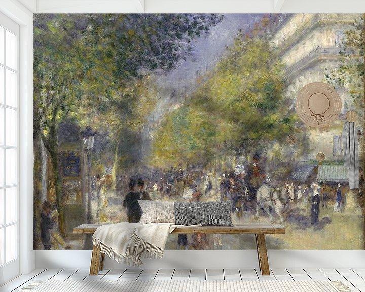 Beispiel fototapete: Die Grands Boulevards, Pierre-Auguste Renoir