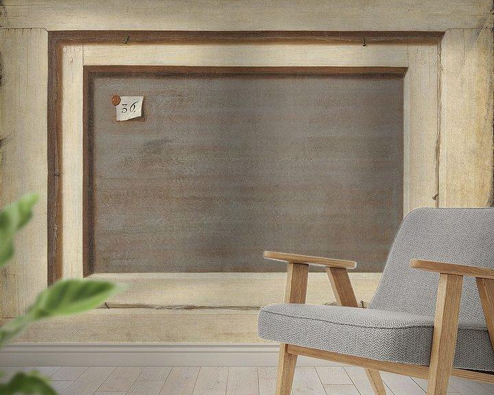 Beispiel fototapete: Trompe l'oeil. Die Rückseite eines gerahmten Gemäldes, Cornelis Norbertus Gysbrechts
