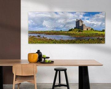 Panorama Dunguaire Castle, Ierland van Henk Meijer Photography