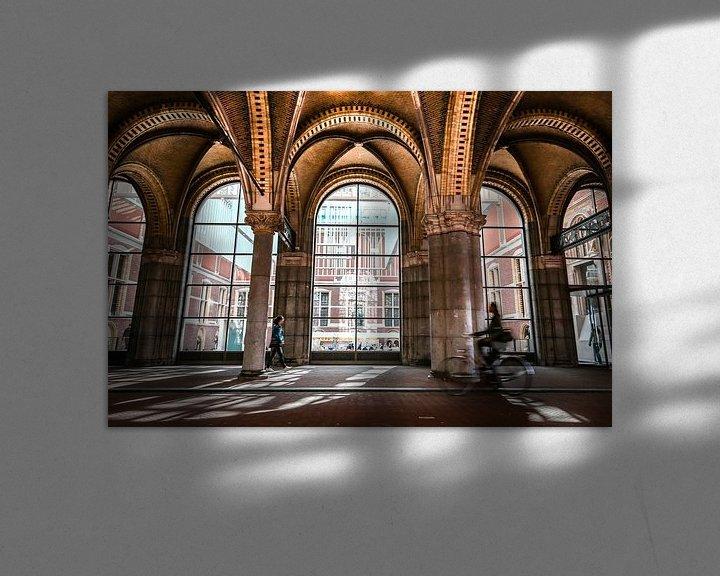Sfeerimpressie: Onderdoorgang Rijksmuseum Amsterdam van Frank Verburg