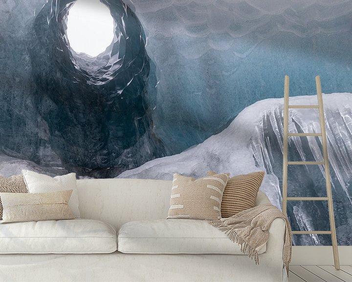 Sfeerimpressie behang: Naar de tunnel van licht van Karla Leeftink