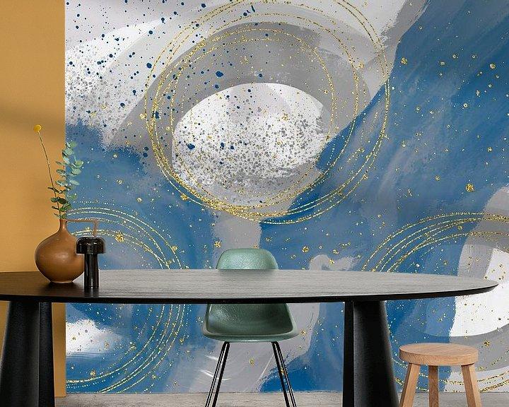 Beispiel fototapete: Schwebende Farben und Kreise Nr. 1 von Melanie Viola