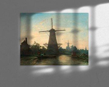Windmühlen bei Rotterdam, Johan Barthold Jongkind