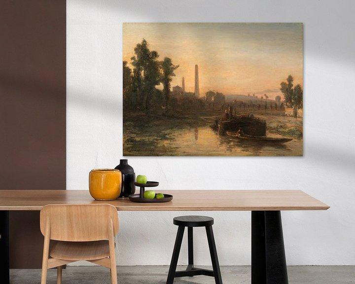 Beispiel: Flussblick in Frankreich, möglicherweise bei Pontoise, Johan Barthold Jongkind