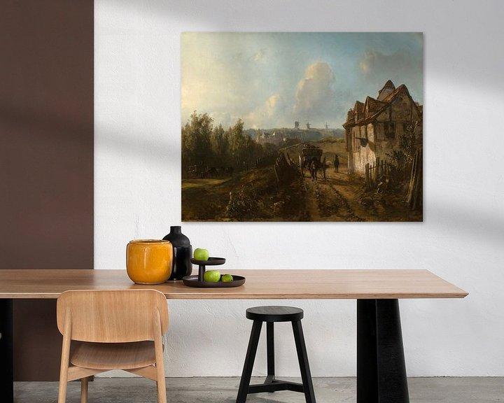 Beispiel: Blick auf Monmartre, Johan Barthold Jongkind