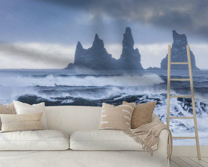 Sfeerimpressie behang: Beginnende sneeuwstorm van Karla Leeftink