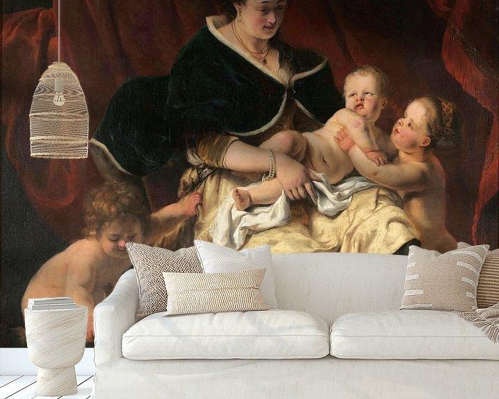 Beispiel fototapete: Mutter mit drei Kindern, Ferdinand Bol
