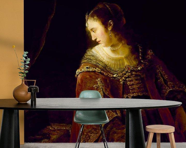 Beispiel fototapete: Frau am Schminktisch, Ferdinand Bol